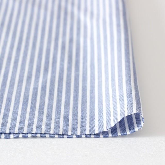 コットン混×ストライプ(ブルー)×ブロードストレッチ_全3色 イメージ3