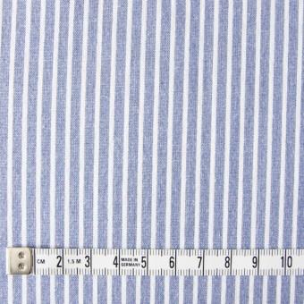 コットン混×ストライプ(ブルー)×ブロードストレッチ_全3色 サムネイル4
