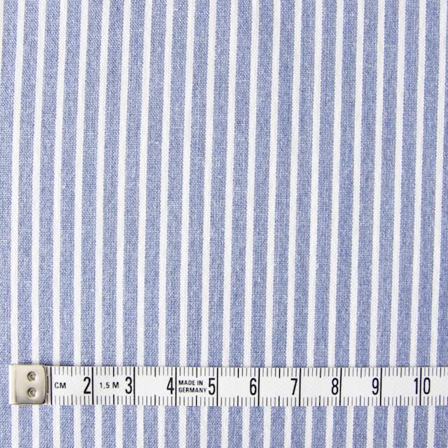 コットン混×ストライプ(ブルー)×ブロードストレッチ_全3色 イメージ4