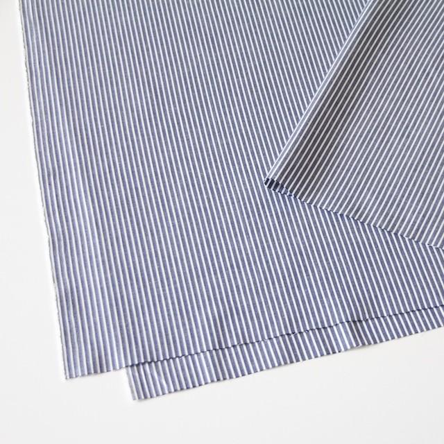 コットン混×ストライプ(ネイビー)×ブロードストレッチ_全3色 イメージ2