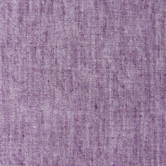 コットン&リネン混×無地(パープル)×ダンガリーストレッチ_全3色 イメージ1