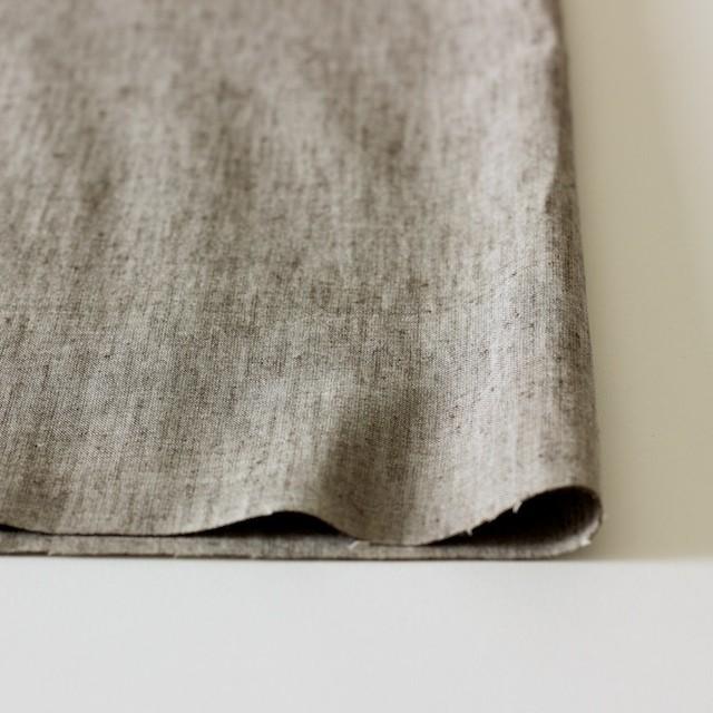 コットン&リネン混×無地(ブラウン)×ダンガリーストレッチ_全3色 イメージ3