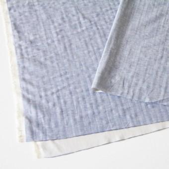 コットン&リネン×無地(ブルー)×ダンガリーWガーゼ_全2色 サムネイル2