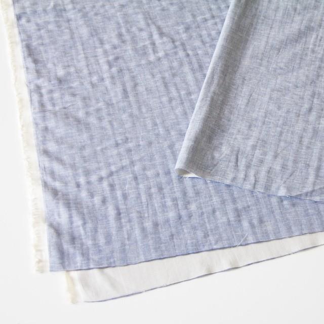 コットン&リネン×無地(ブルー)×ダンガリーWガーゼ_全2色 イメージ2