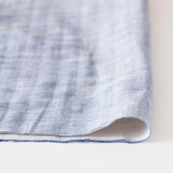 コットン&リネン×無地(ブルー)×ダンガリーWガーゼ_全2色 サムネイル3