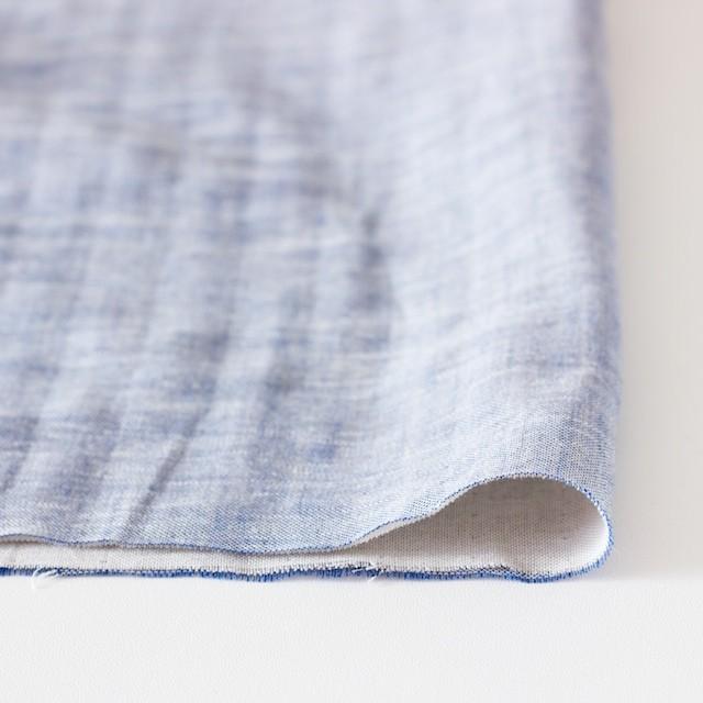 コットン&リネン×無地(ブルー)×ダンガリーWガーゼ_全2色 イメージ3
