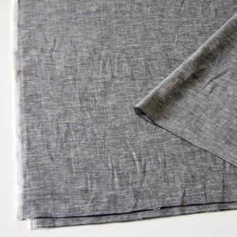 コットン&ヘンプ(麻)×無地(黒白)×ダンガリーWガーゼ サムネイル2