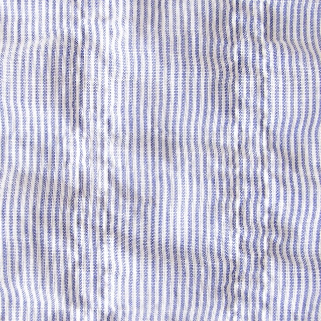 コットン×ストライプ(ブルー)×ローンシャーリング_全2色 イメージ1