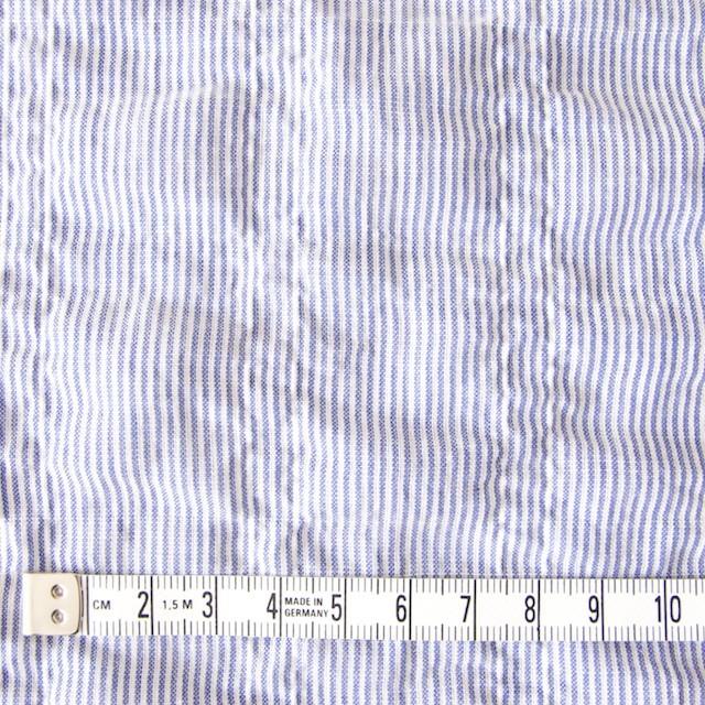 コットン×ストライプ(ブルー)×ローンシャーリング_全2色 イメージ4