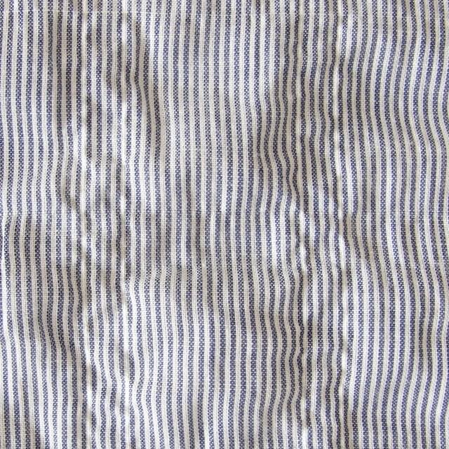 コットン×ストライプ(ネイビー)×ローンシャーリング_全2色 イメージ1