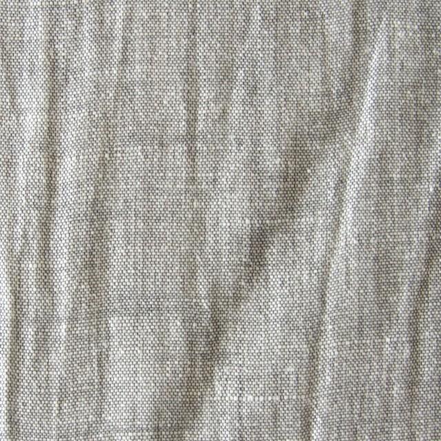 リネン混×無地(グレーミックス)×シャンブレーワッシャー_全2色 イメージ1