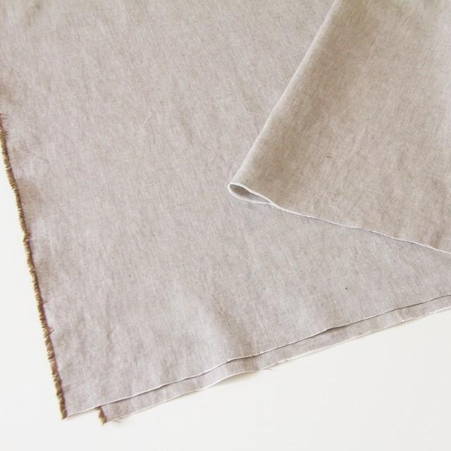リネン&コットン×無地(ブラウン)×オックスフォード_全4色 イメージ2