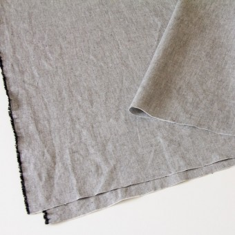 リネン&コットン×無地(ブラック)×オックスフォード_全4色 サムネイル2