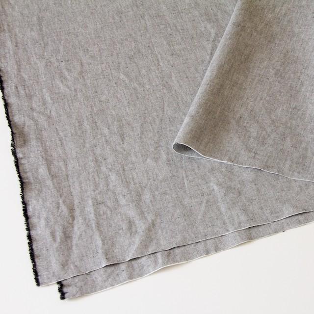 リネン&コットン×無地(ブラック)×オックスフォード_全4色 イメージ2