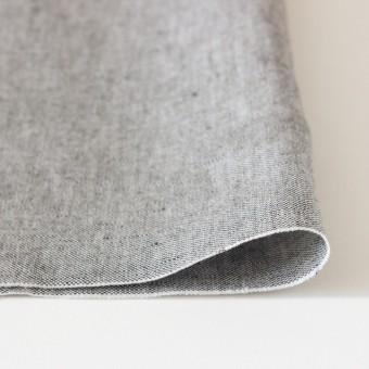 リネン&コットン×無地(ブラック)×オックスフォード_全4色 サムネイル3