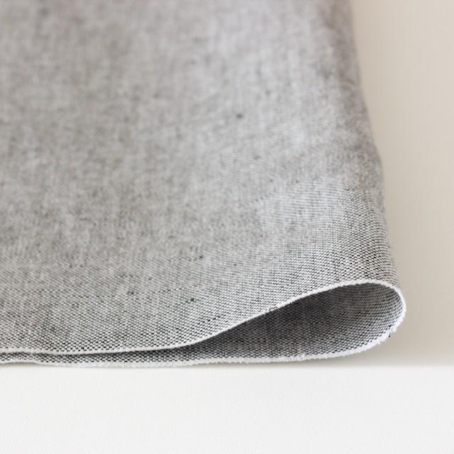 リネン&コットン×無地(ブラック)×オックスフォード_全4色 イメージ3