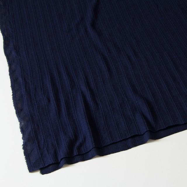 コットン&リネン×無地(ネイビー)×模様編ニット_全5色 イメージ2