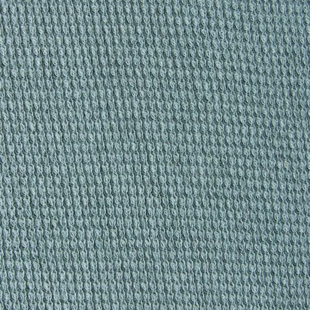 コットン&リネン×無地(アクアグリーン)×テレコニット_全3色 イメージ1