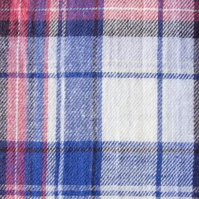 コットン&リネン×タータンチェック(ライトブルーミックス)×薄サージ_全4色 イメージ1