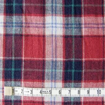 コットン&リネン×タータンチェック(レッドミックス)×薄サージ_全4色 サムネイル4