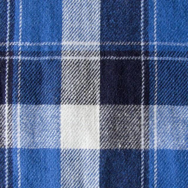 コットン&リネン×タータンチェック(ブルーミックス)×薄サージ_全4色 イメージ1