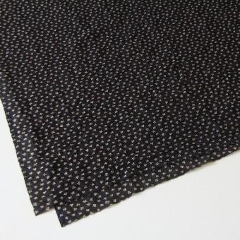 コットン×小花プリント(ブラック)×ボイルワッシャー_イタリア製 サムネイル2