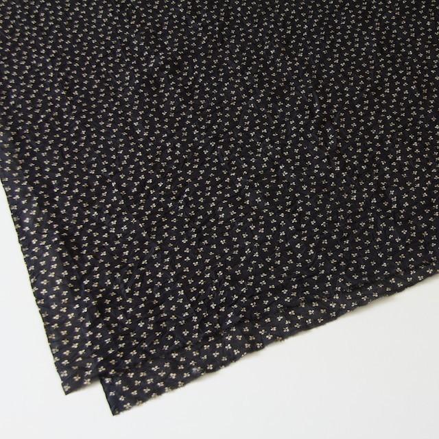 コットン×小花プリント(ブラック)×ボイルワッシャー_イタリア製 イメージ2