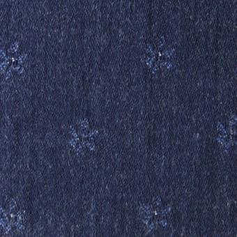 コットン×小花(ブルーフラワー)×ジャガードデニム_全2色 サムネイル1