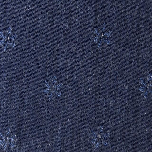 コットン×小花(ブルーフラワー)×ジャガードデニム_全2色 イメージ1