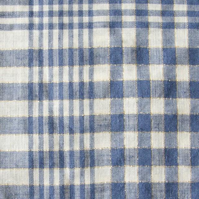 コットン&リネン×マドラスチェック(サルビアブルー)×ローン_全3色 イメージ1