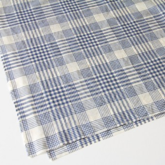 コットン&リネン×マドラスチェック(サルビアブルー)×ローン_全3色 サムネイル2