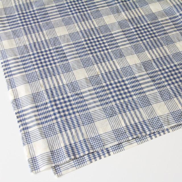 コットン&リネン×マドラスチェック(サルビアブルー)×ローン_全3色 イメージ2