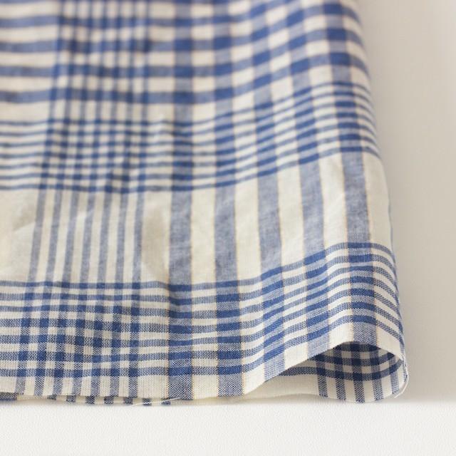 コットン&リネン×マドラスチェック(サルビアブルー)×ローン_全3色 イメージ3