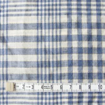 コットン&リネン×マドラスチェック(サルビアブルー)×ローン_全3色 サムネイル4