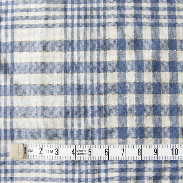 コットン&リネン×マドラスチェック(サルビアブルー)×ローン_全3色 イメージ4