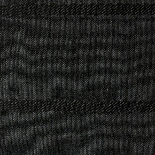 リネン&コットン×ボーダー(ブラック)×ジャガード_全2色 イメージ1