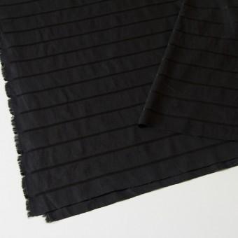 リネン&コットン×ボーダー(ブラック)×ジャガード_全2色 サムネイル2