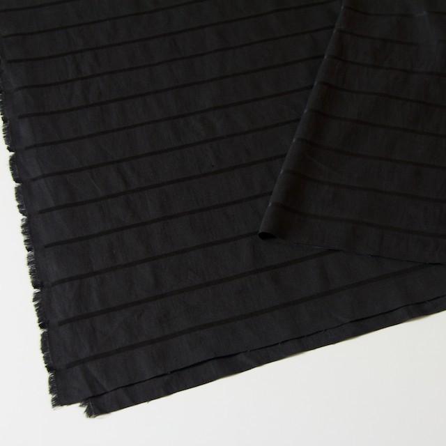 リネン&コットン×ボーダー(ブラック)×ジャガード_全2色 イメージ2