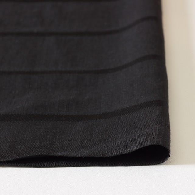 リネン&コットン×ボーダー(ブラック)×ジャガード_全2色 イメージ3
