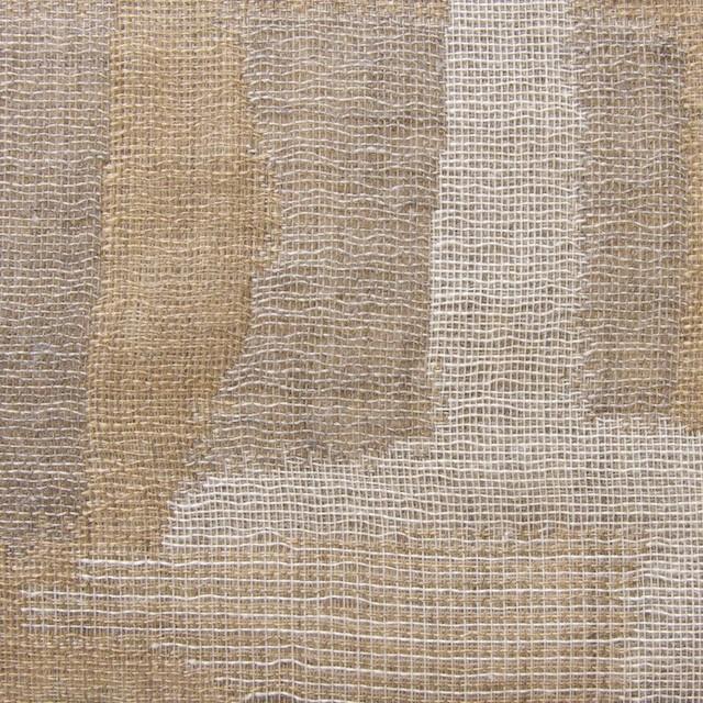 コットン×幾何学模様(モカミックス)×風通織り イメージ1