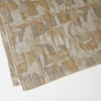 コットン×幾何学模様(モカミックス)×風通織り サムネイル2