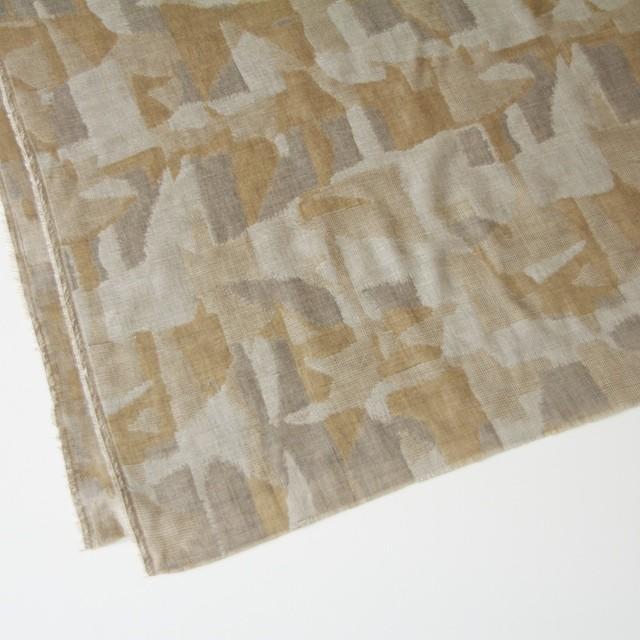 コットン×幾何学模様(モカミックス)×風通織り イメージ2