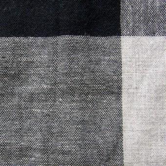 コットン×ブロックチェック(ブラック)×Wガーゼ_全2色 サムネイル1