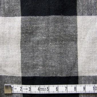 コットン×ブロックチェック(ブラック)×Wガーゼ_全2色 サムネイル4
