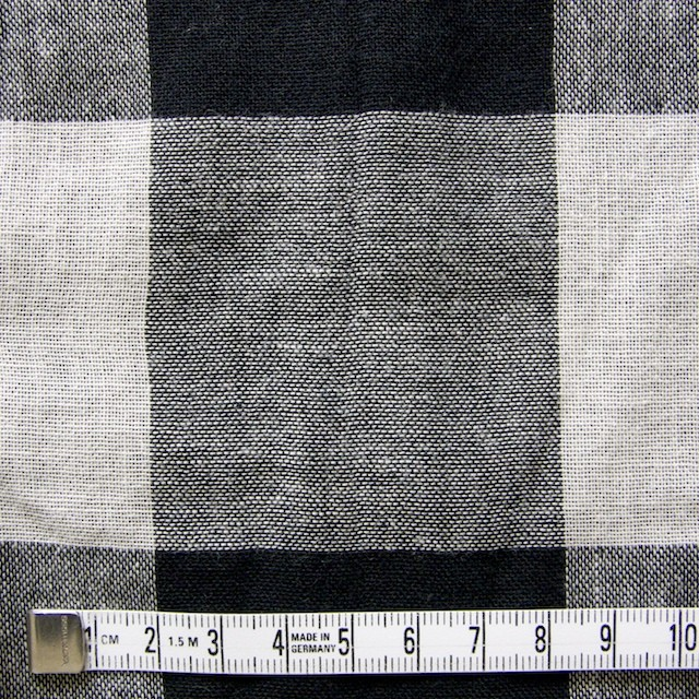 コットン×ブロックチェック(ブラック)×Wガーゼ_全2色 イメージ4