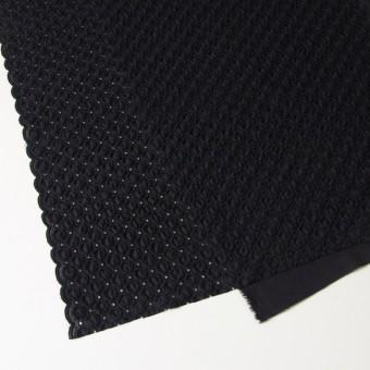 コットン&ポリエステル×無地(ブラック)×ジョーゼット刺繍 サムネイル2