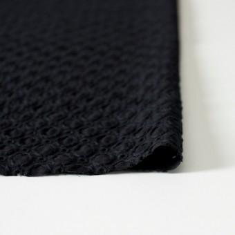 コットン&ポリエステル×無地(ブラック)×ジョーゼット刺繍 サムネイル3
