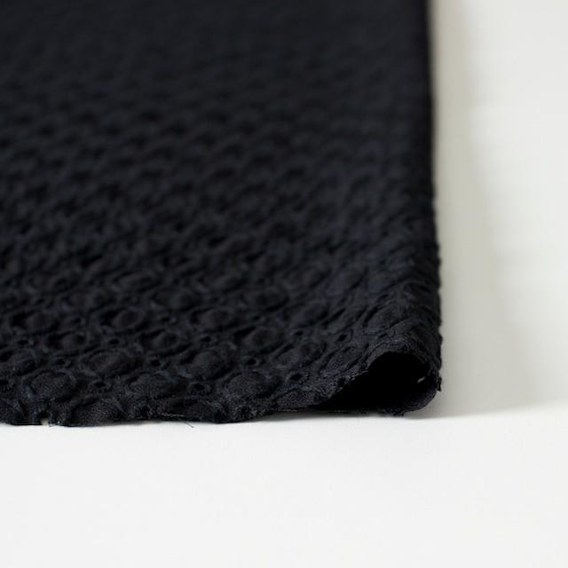 コットン&ポリエステル×無地(ブラック)×ジョーゼット刺繍 イメージ3