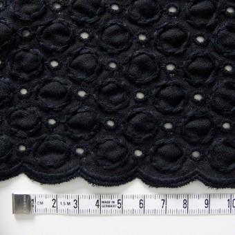 コットン&ポリエステル×無地(ブラック)×ジョーゼット刺繍 サムネイル4