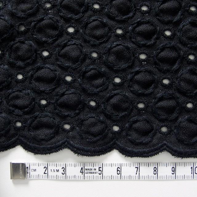 コットン&ポリエステル×無地(ブラック)×ジョーゼット刺繍 イメージ4